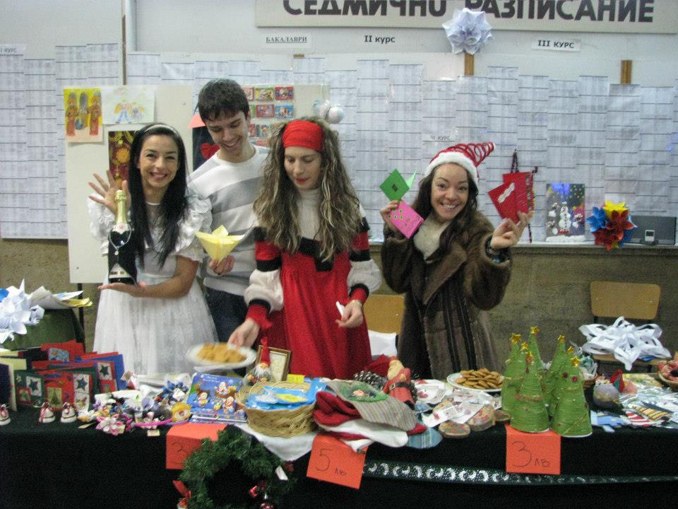 Charity Xmas Bazaar for ALA in the University of Economics – Varna